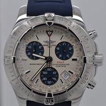 Breitling Colt Quartz Chronograph Silver Dial Men's Steel Blue...