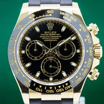 Rolex 116518LN Daytona Black Dial 18K Yellow Gold / Rubber...