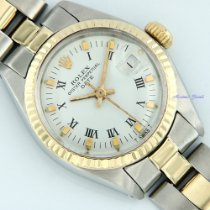 Rolex Lady-Datejust Goud/Staal 26mm Wit Romeins
