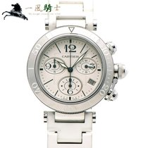 Cartier Pasha pre-owned 37mm White Rubber
