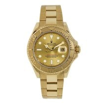 Rolex Classic Yacht-Master 40mm Champagne Yellow Gold Diver Watch