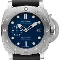 Panerai Luminor Submersible 1950 3 Days Automatic Titanium 47mm Blue No numerals United States of America, New York, New York