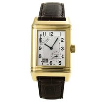 Jaeger-LeCoultre Rose gold Manual winding Silver pre-owned Reverso Grande Date