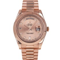 Rolex Rose gold Automatic Pink 41mm pre-owned Day-Date II