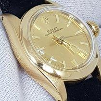 Rolex Oyster Perpetual 26 Жёлтое золото 26mm Без цифр