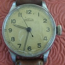 Angelus 青銅 35mm 手動發條 Angelus Military Center Seconds Mens Vintage Wristwatch 二手