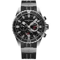 Ulysse Nardin Diver Chronograph pre-owned 44mm Black Chronograph Date Rubber