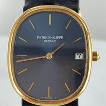 Patek Philippe Golden Ellipse Yellow gold Blue