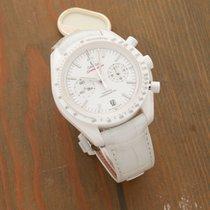 Omega Speedmaster Professional Moonwatch Keramik 44.25mm Vit Inga siffror