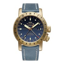Glycine Bronze Automatic Black 44mm new Airman