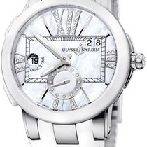 Ulysse Nardin Executive Dual Time Lady Steel 50mm Mother of pearl United States of America, New York, Brooklyn