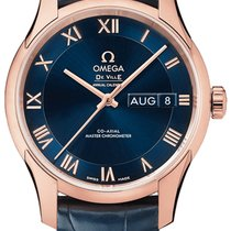 Omega De Ville Hour Vision Rose gold 41mm Blue United States of America, New York, Airmont