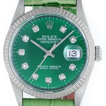 Rolex Datejust Green Diamond Dial & Green Leather 16014