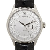 Rolex Cellini Series 18k White Gold Silver Automatic 50519