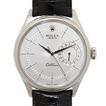 ロレックス (Rolex) Cellini Series 18k White Gold Silver Automatic...
