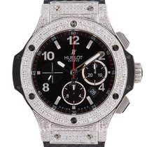 Hublot Big Bang Chronograph 44mm Steel Diamond Set Case/Bezel...