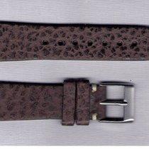 Dark Brown Bison Leather Strap 20/16 For Rolex/Omega/Longines/...