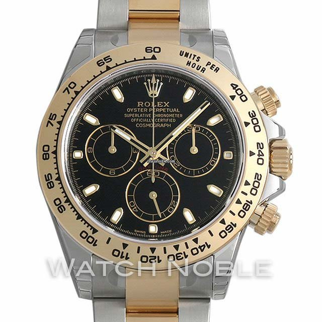 Rolex Cosmograph Daytona Steel and 18K Yellow Gold Black Dial