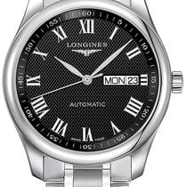 Longines Master Collection Steel 38.5mm Black Roman numerals