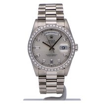 Rolex Day-Date 36 Platinum 36mm Silver No numerals