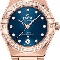 Omega Rose gold Automatic Blue 29mm new Constellation