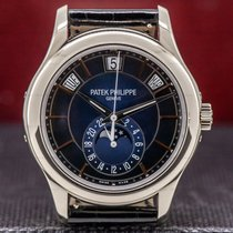 Patek Philippe new Automatic Skeletonized Display Back Center Seconds Luminescent Numerals Screw-Down Crown 40mm White gold Sapphire Glass