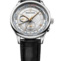 Maurice Lacroix Masterpiece Worldtimer Staal 42mm Zilver