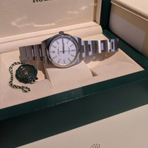 Rolex Oyster Perpetual 39 Steel White No numerals Canada, Red deer