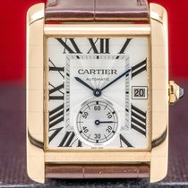Cartier Tank MC Rose gold 34mm Silver Roman numerals United States of America, Massachusetts, Boston