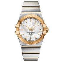 Omega 123.20.38.21.02.002 Золото/Cталь Constellation Men 38mm новые