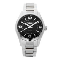 Longines Steel Automatic Black Arabic numerals 42mm pre-owned Conquest Classic