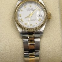 Rolex Lady-Datejust Acero y oro 26mm Blanco