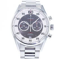 TAG Heuer Steel Automatic White 43mm pre-owned Carrera Calibre 36