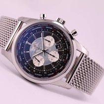 Breitling Transocean Chronograph Unitime nouveau 2020 Remontage automatique Chronographe Montre avec coffret d'origine et papiers d'origine AB0510U4/BB62