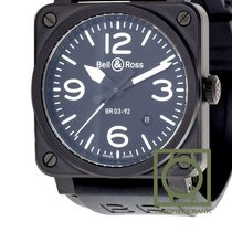 Bell & Ross BR 03-92 Ceramic Ceramic 42mm Black Arabic numerals