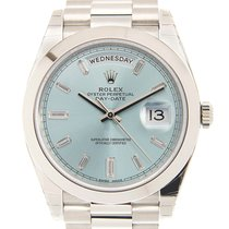 勞力士 Day-date 950 Platinum Light Blue Automatic 228206A