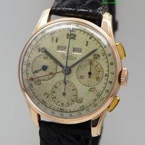 Breitling Datora Chronograph Vintage 785 -Valjoux 72c Roségold...