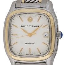 David Yurman : Thoroughbred :  T301-LS8 :  18k gold, .925...