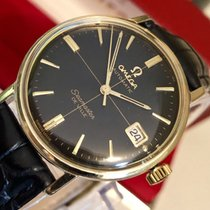 Omega Seamaster De Ville Black crosshair 14k Gold mens watch +...