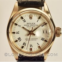 Rolex Oyster Perpetual Lady Date Gelbgold 25mm Weiß Römisch Schweiz, Morcote