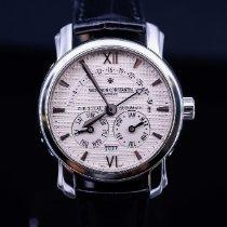 파텍필립 Perpetual Calendar Chronograph 화이트골드 41mm 은색 숫자없음