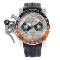 Graham Steel 60mm Automatic Chronofighter Oversize pre-owned