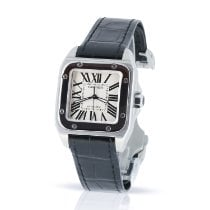 Cartier pre-owned Automatic 33mm White Sapphire Glass 10 ATM