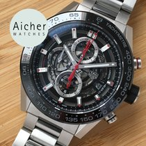 TAG Heuer Carrera Calibre HEUER 01 pre-owned 45mm Chronograph Date Tachymeter Steel