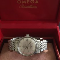 Omega Constellation pre-owned 33.5mm Silver Date Steel