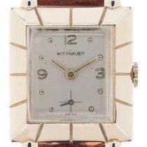Wittnauer Yellow gold Silver Arabic numerals 38mm pre-owned