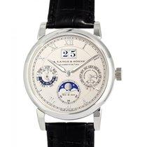 A. Lange & Söhne Langematik Perpetual Platinum 39mm Silver Roman numerals