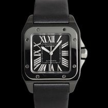 Cartier Santos 100 Керамика 33mm Чёрный