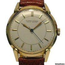 Ulysse Nardin Yellow gold Manual winding Silver No numerals 35mmmm pre-owned