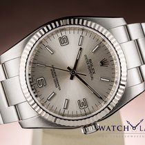 Rolex OYSTER PERPETUAL CHRONOMETER NO DATE 18K WHITE GOLD BEZEL